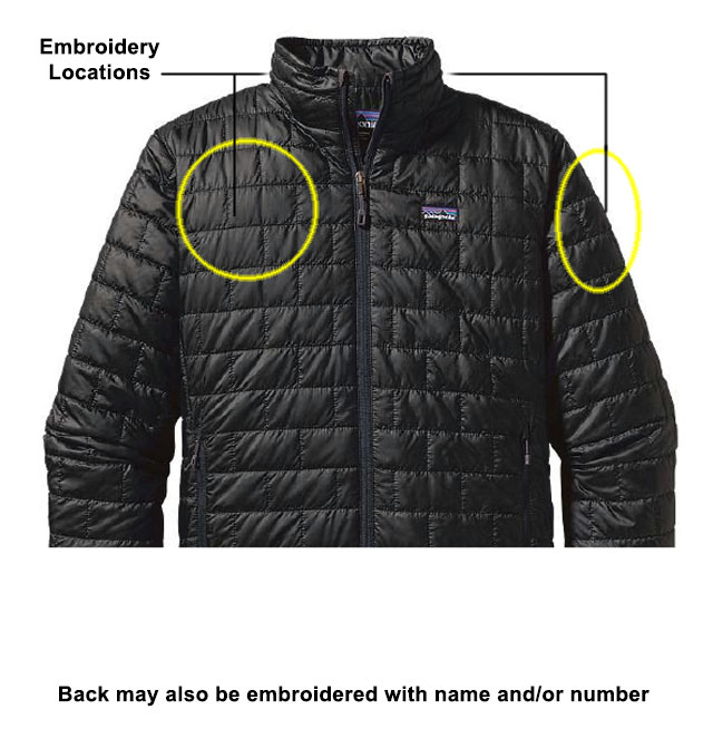 Mens Nano Puff Jacket with Williams College Embroidery