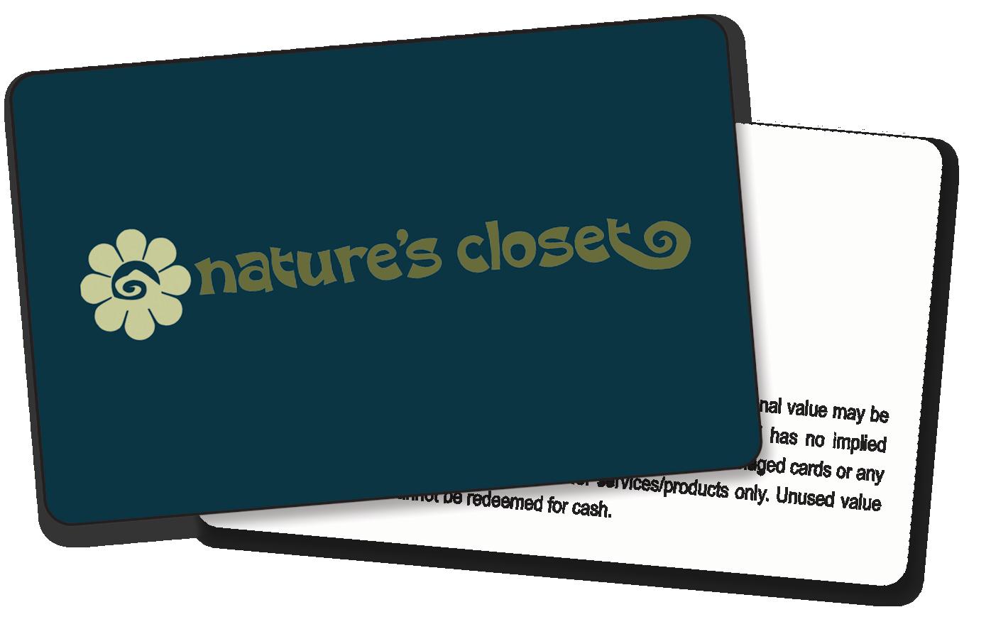 Nature's Closet Gift Certificate